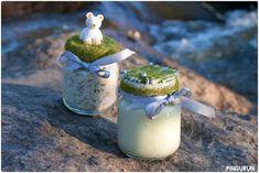 Pingurun: Ohje: Piparminttu-jalkavoide & sitruuna-yrtti-jalkakylpysuola Diy Scrub, Glass Of Milk, Christmas, Crafts, Food, Scrubs, Tips, Xmas, Manualidades