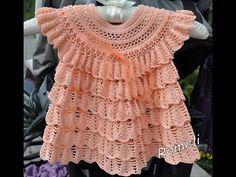 Crochet dress  How to crochet an easy shell stitch baby / girl's dress for beginners 19 - YouTube