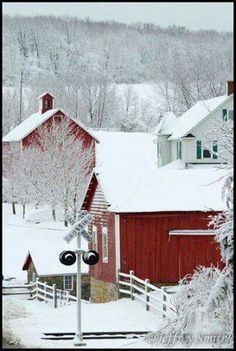 Winter Magic, Winter Snow, Winter Time, Winter Christmas, Winter Road, Winter Travel, Country Barns, Country Life, Country Living