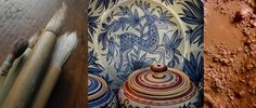 The page about czech handpainted stoneware