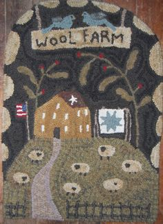 Hooked by Julie butler-plumruncreek  Design by Country Stitches-Brenda Gervais