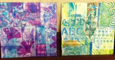 Jane LaFazio ~ Abstract Collage with Gelli® plate! This is work from the workshop I just taught at Art Unraveled in Arizona.