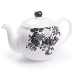 marvellously medium sized teapot, hankie flower charcoal