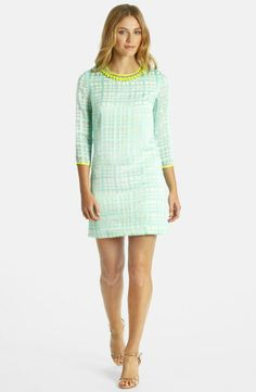 Mint Plaid Shift Dress.