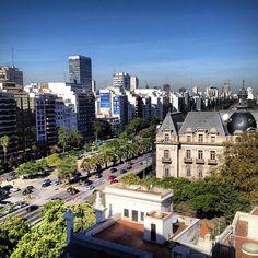 9 de Julio Avenue, the widest avenue in the world #travel #argentina