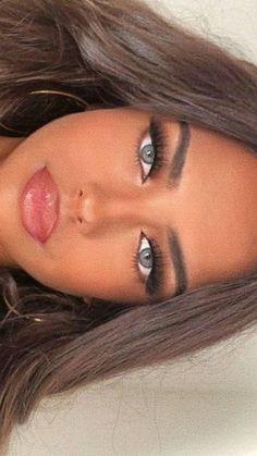 Makeup Eye Looks, Makeup For Green Eyes, Natural Makeup Looks, Cute Makeup, Glam Makeup, Gorgeous Makeup, Pretty Makeup, Beauty Makeup, Hair Makeup