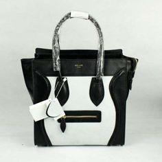 bb39b1da90 knockoff most popular celine boston smile tote handbags black white