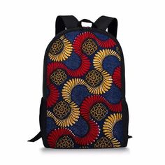 African Ethnic Schoolbag for Teenager Girls Beautiful School Backpack for children designed for everyday carry books, laptop, sports kit and more, and sewn on durable canvas. African Attire For Men, African Men, Satchel Backpack, Funny Prints, School Bags For Kids, Shoulder Backpack, Designer Backpacks, School Backpacks, Fashion Backpack