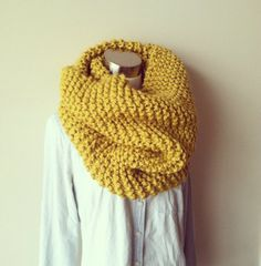 oversized cowl scarf, I love the cowl but maybe in a different color because I don't look good in mustard or yellow for that matter