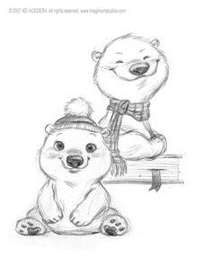 Polar bear designs by `imaginism on deviantART