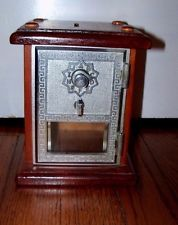 Vintage Post Office Door Mail Box Postal Piggy Bank with Combination