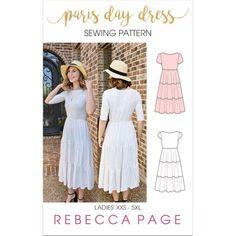 Paris Day Dress A Ladies Gathered Dress Sewing Pattern Formal Dress Pattern Dress Pattern Fo. Prom Dress Shopping, Online Dress Shopping, Dress Sewing Patterns, Clothing Patterns, Pdf Patterns, Skirt Sewing, Skirt Patterns, Coat Patterns, Blouse Patterns