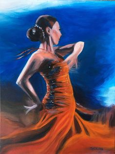 Spanish Dancer  This painting is one of my first paintings and its depicting my favourite subject, dancers. Original acrylic painting on canvas. Signed. 24 x 18 inches.  About me: Czech artist living in Vancouver. I have been always interested in art since I was a child. My favourite subjects