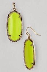 Kendra Scott neon yellow elle earrings