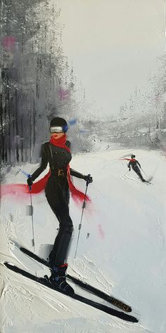 Ski with determination. Elegant Lady, Canadian Art, Ski Fashion, Whistler, Black Jumpsuit, Determination, Skiing, Snow, Superhero