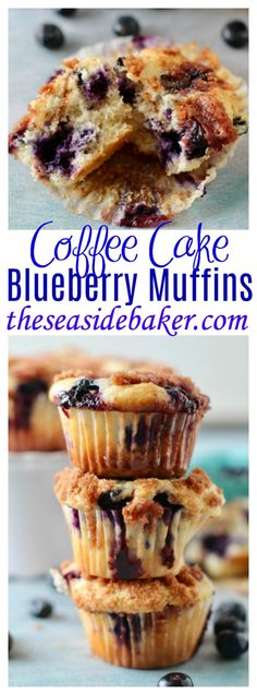 Buttery cinnamon coffee cake meets bursting blueberry muffin for an epic quick and easy to make muffin recipe