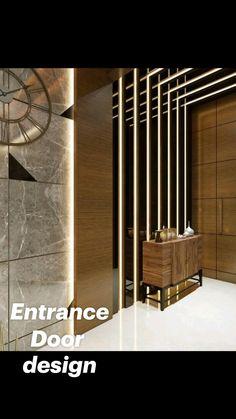 Home Entrance Decor, Entrance Design, Entrance Doors, Door Design, Wall Design, House Entrance, Office Entrance, Entrance Ideas, Lobby Interior