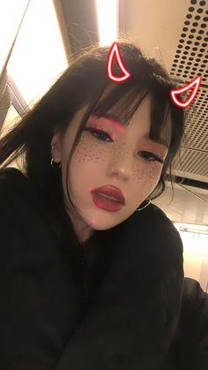 E girl Devil girl, Outfit, oni, evil, Filter, Red