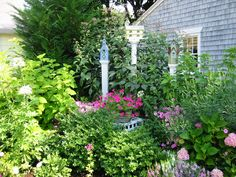 Cottage garden in historic Wickford, RI from the Wickford in Bloom 2010 garden tour.