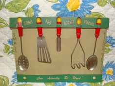 Kitschy Vintage Kitchen Utensils Visit my blog http://cdiannezweig.blogspot.com/ and my site http://iantiqueonline.ning.com/