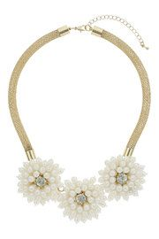 Pearl Flower Necklace #MyChristmasStory