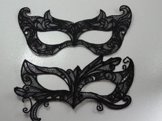 Lace masquerade mask by LaMuerteDulce on Etsy, $8.00