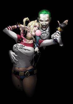 JOKER-amp-HARLEY-QUINN-Suicide-Squad-Batman-Art-Print-Picture-Photo-Poster-A3-A4