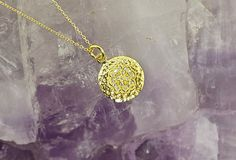 Dainty Four Leaf Clover Layering Necklace, with Cubic Zirconia, in 925 Silver, Gold Layering Necklace, Hammered Texture, Minimalist