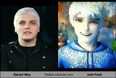 Gerard Way Totally Looks Like Jack Frost - http://www.funnyclone.com/gerard-way-totally-looks-like-jack-frost/