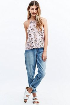Minkpink Floral Print Cami in Pink - Urban Outfitters