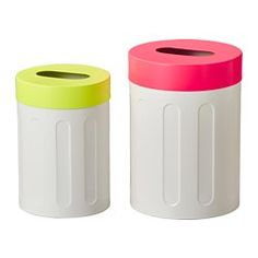 SPRUTT Stool with storage, set of 2 - IKEA. $34.99 (Perfect for clothes or bedding. Easy to drop in clothes and useful sittting stool. I also like that they're tall-ish. I would add a liner.)