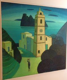 Chiesa di Fiaiano.olio su tela.