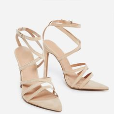 c9373cb0a2e Mimi Feather Block Heels in Blush Pink Faux Suede