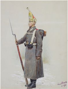 Private of the Pavlovsky Regiment of the Guards, Russian Army, 1895