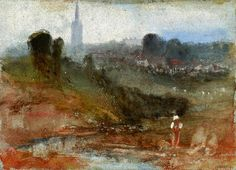 JMW Turner - A View of Petworth Church, with the Chimneys of Petworth House to the Right of the Spire