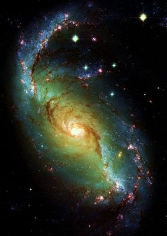 Hubble Space Telescope NGC 1672 is a barred spiral Seyfert II galaxy, more than 60 million light-years away in the direction of the southern constellation Dorado. by bessie Cosmos, Hubble Space Telescope, Space And Astronomy, Telescope Images, Space Photos, Space Images, Ciel Nocturne, Spiral Galaxy, Interstellar