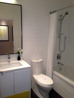 Modern condo washroom