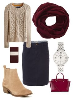 """""""Untitled #208"""" by cmays1994 ❤ liked on Polyvore featuring Splendid, White Stuff, Joules, Hobbs, FOSSIL and MICHAEL Michael Kors"""