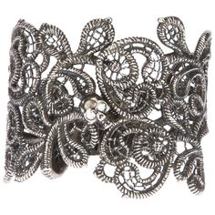 ALEXANDER MCQUEEN skull punk lace cuff (310) found on Polyvore