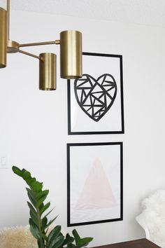 DIY Modern Heart Art | Hello Lidy