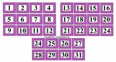 Boberkowy World : Starter nauczyciela przedszkola: Kalendarz / kalendarz pogody- pliki do wydruku 9 And 10