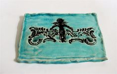 Water Blue Antiqued Porcelain Soap Dish by sleeKsoap on Etsy, $15.00