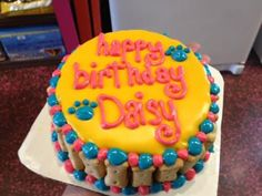 Birthday Cake For A Dog decorated with Fido's Frosting.