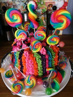 Lollipop birthday cake