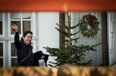 Danish Royal Christmas Family gathering at Fredensborg Palace on December 24, 2014