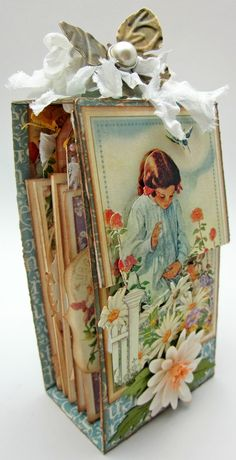 Beautiful Graphic 45 Secret Garden mini by Lori. Worth a click to see the entire mini - it's gorgeous!