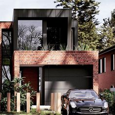 Dream house plans - Modern House Design Our house Modern Brick House, Modern House Plans, Modern House Design, Duplex Design, Dream House Exterior, Dream House Plans, Modern Exterior, Exterior Design, Black Exterior