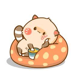Cute Love Images, Cute Pictures, Fat Cat Gif, Pet Raccoon, Cat Emoji, Kawaii Bunny, Emoji Love, Love Stickers, Cute Characters
