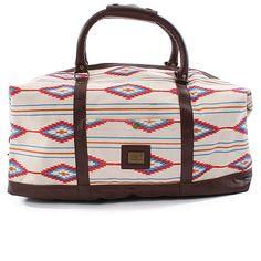 OBEY Navajo print duffle bag