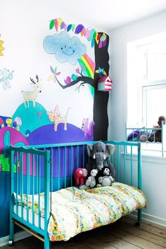colourful kids room..